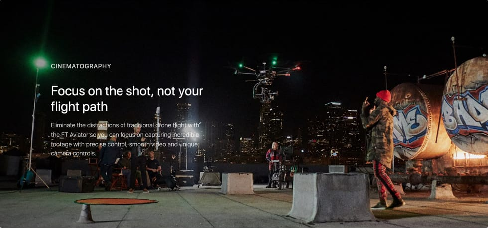 Fluidity Tech drones for cinematography